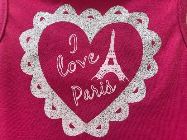 I Love Paris Magenta Dog Dress By Pet Spirit