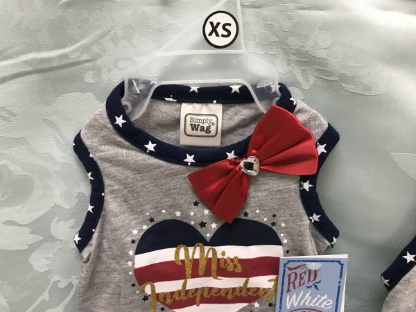 Simply Wag Miss Independent Dress Red White and Cute with Ruffle
