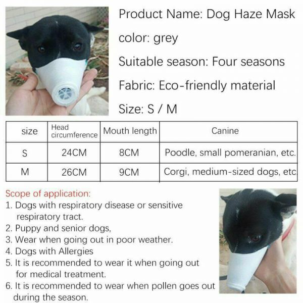 Dog Respirator Face Mask 3 Size Options  + Free US Shipping