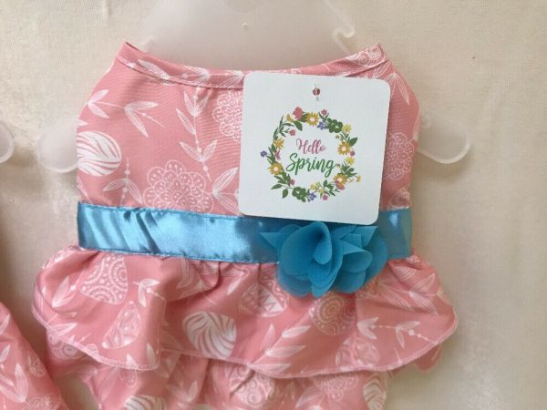 Easter Pink and Blue Dog Dress by Hello Spring