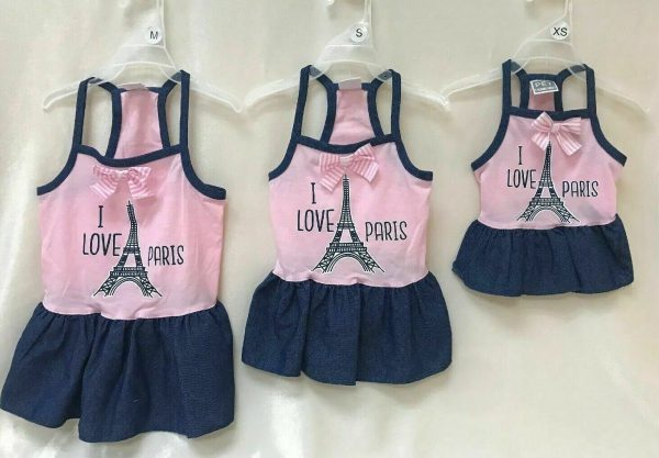 I Love Paris Dog Dress by Pet Spirit