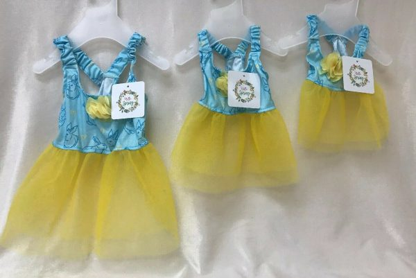 Easter Yellow and Blue Dog Dress w Tutu by Hello Spring