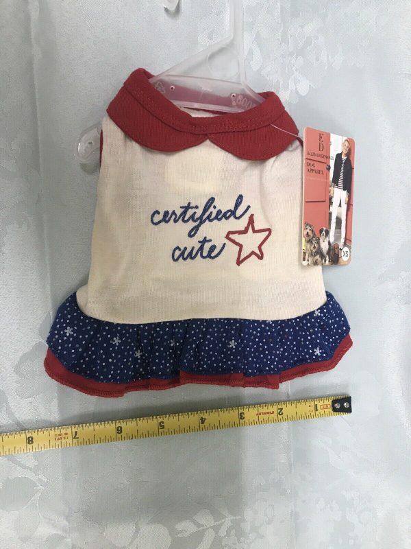 ED Ellen Degeneres Certified Cute Dog Apparel Dress with Ruffle