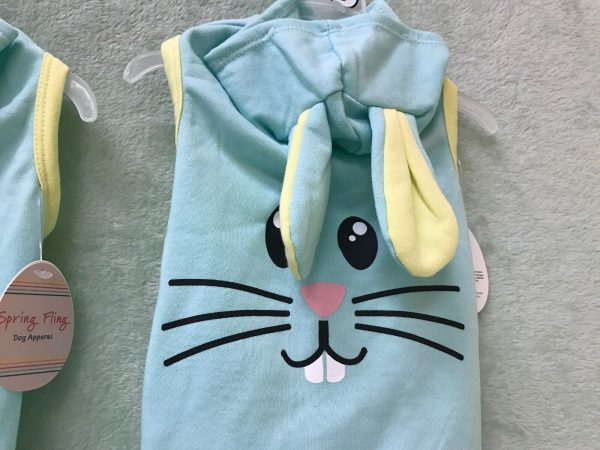 Hoodie Dog Apparel Green and Yellow Bunny by Simply Wag