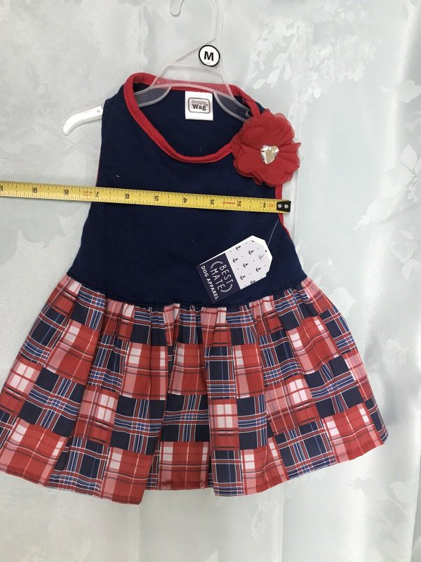 Simply Wag Blue and Red  Dress Best Mate Dog Apparel by Simply Wag